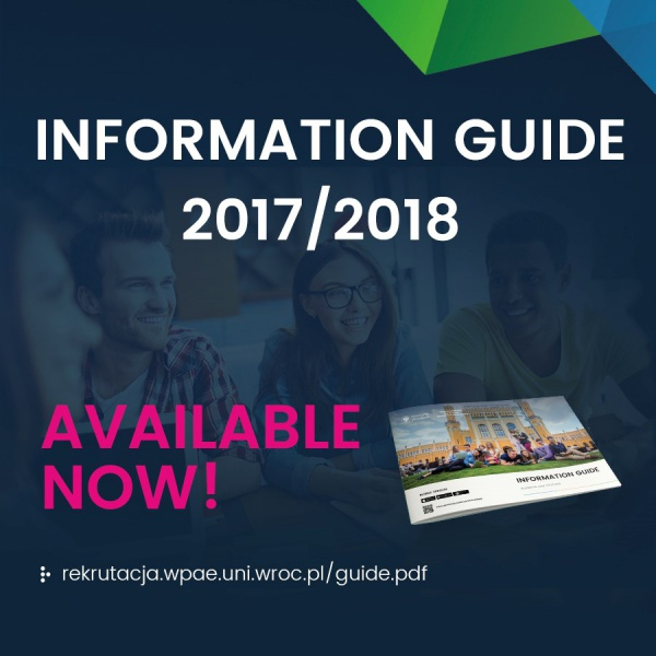 Information Guide 2017/2018 available now!