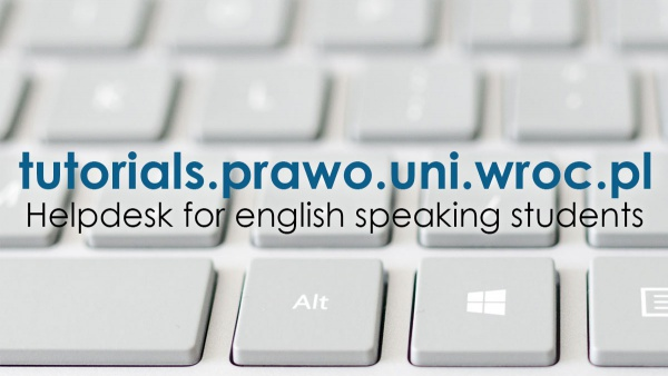 Helpdesk for english speaking students